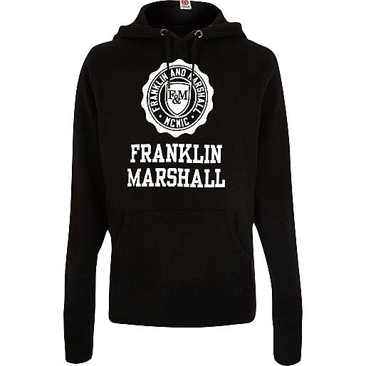 Franklin & Marshall – Schwarzer, bedruckter Pullover