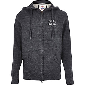 Grey fleece Franklin & Marshall zip hoodie