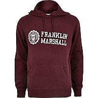 "Dunkelroter Kapuzenpullover mit ""Franklin & Marshall""-Aufschrift"