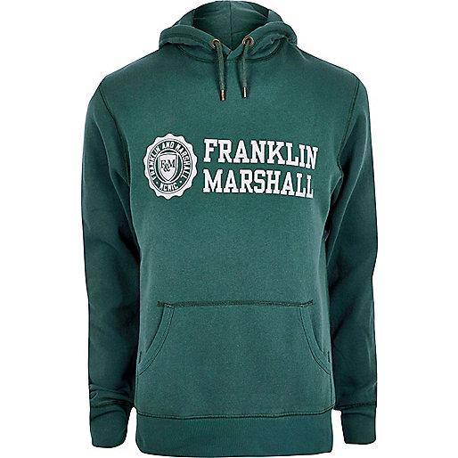 Green Franklin & Marshall print hoodie