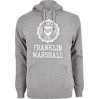 Sweat à capuche Franklin & Marshall imprimé gris