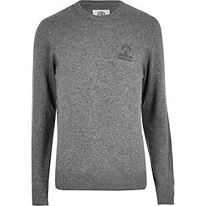 Grey Franklin & Marshall knit jumper