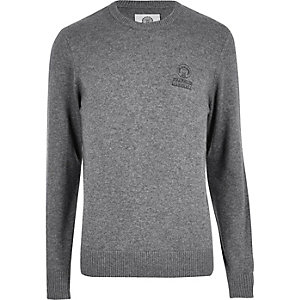 Grey Franklin & Marshall knit sweater