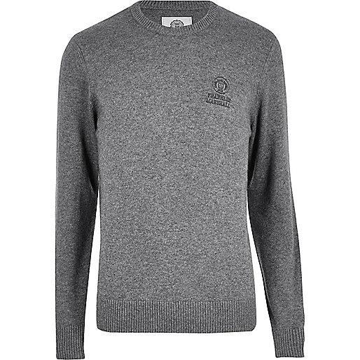 Grey Franklin & Marshall knit sweater