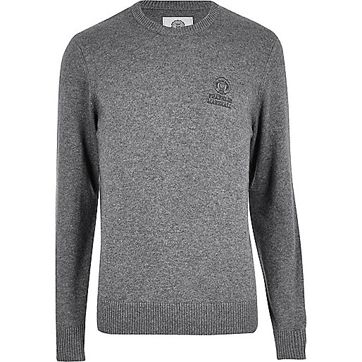 Pull Franklin & Marshall en maille gris