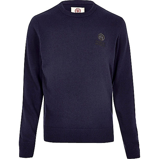 Navy Franklin Marshall knit sweater