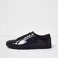 Black iridescent sneakers