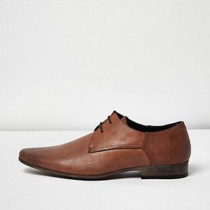Braune elegante Schnürschuhe