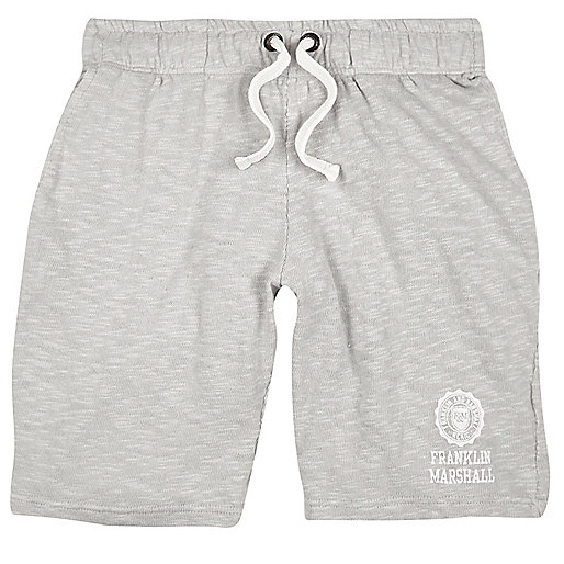 Grey Franklin & Marshall print jersey shorts