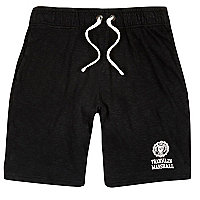Black Franklin & Marshall print jersey shorts
