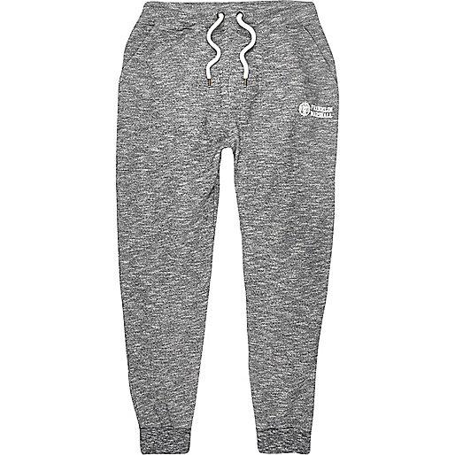 Grey marl Franklin & Marshall print joggers