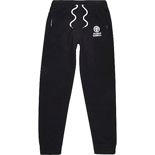 Black Franklin & Marshall print joggers