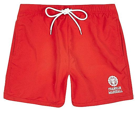 Red Franklin & Marshall swim shorts