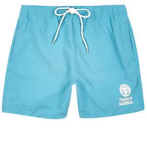 Light blue Franklin & Marshall swim trunks