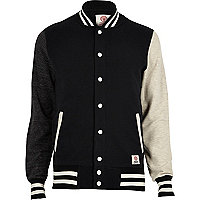 Black Franklin & Marshall varsity jacket