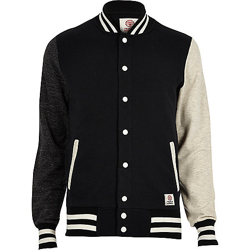 Black Franklin & Marshall varsity jacket