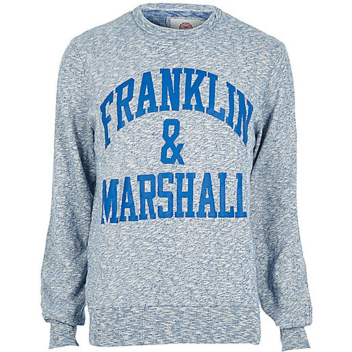 Franklin & Marshall – Blaues Sweatshirt