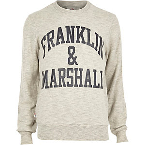 Grey marl Franklin & Marshall sweatshirt