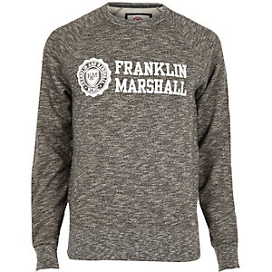 Black marl Franklin & Marshall sweatshirt