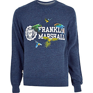 Blue marl Franklin & Marshall sweatshirt