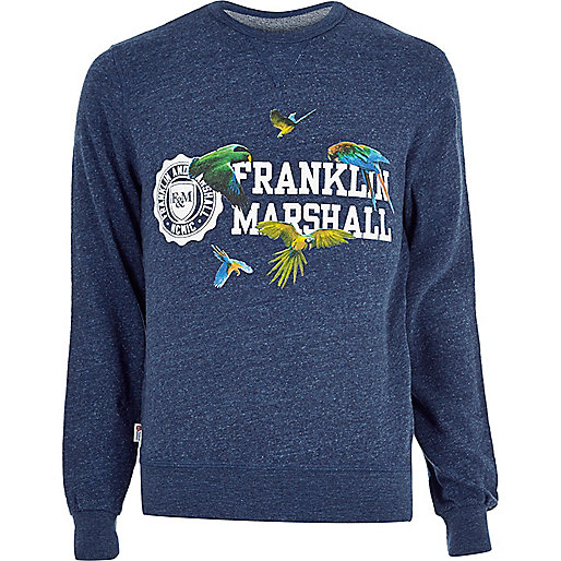 Blue marl Franklin & Marshall sweatshirt