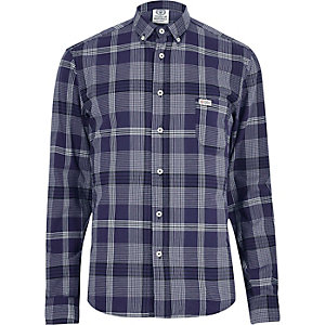 Blue Franklin & Marshall checked shirt