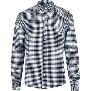 Blue Franklin & Marshall checked shirt
