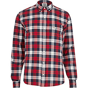 Red Franklin & Marshall casual check shirt