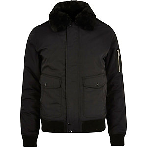 Black Schott flight jacket