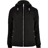 Black Schott windbreaker jacket