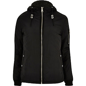 Black Schott windbreaker jacket