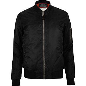 Black Schott MA1 bomber jacket
