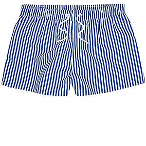 Short de bain rayé bleu coupe slim