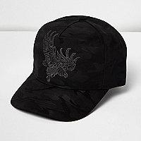 Casquette camouflage noire brodée