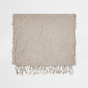 Ecru silk effect scarf