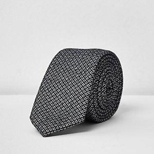 Navy textured print tie