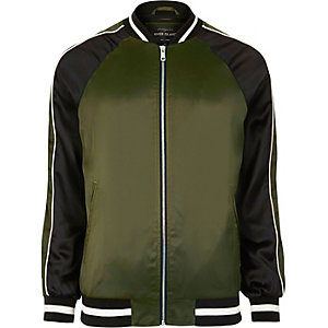 Green two tone light bomber jacket