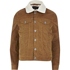 Veste en velours côtelé marron doublée imitation mouton