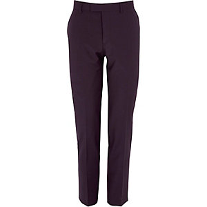 Purple skinny tux suit pants