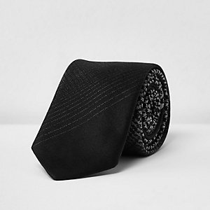 Black ombré tie