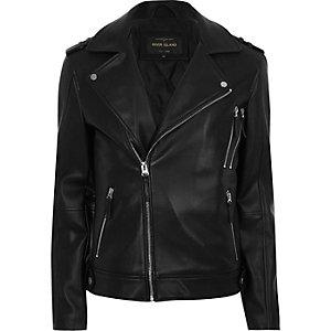 Black zip biker jacket