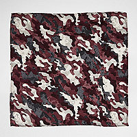 Purple camo pocket square