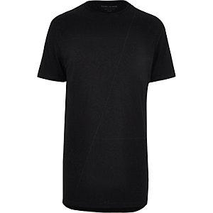 Black seam line longline T-shirt