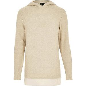 Stone layered hoodie