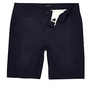 Short chino bleu marine coupe slim