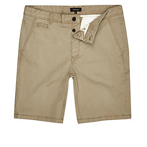 Hellbraune Slim Fit Chinoshorts