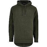 Dark green fleece hoodie