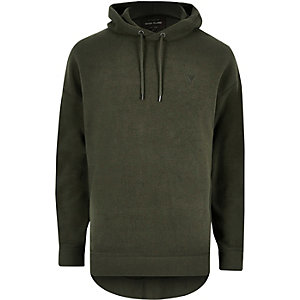 Dark green fleece hoodie