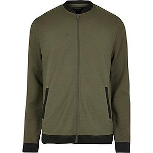 Green mesh bomber jacket