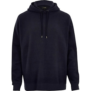 Sweat en molleton bleu marine
